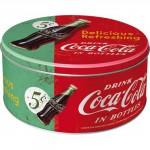 Boîte en métal ronde publicité Coca-Cola