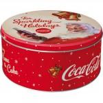 Boîte en métal ronde publicité Coca-Cola avee le Père Noël