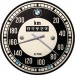 Horloge murale vintage : Mini Cooper compteur kilométrique