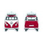 Désodorisant à suspendre VW VolkswagenT1 Bulli rouge (Parfum vanille)