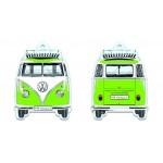 Désodorisant à suspendre VW VolkswagenT1 Bulli vert (Parfum pomme verte)