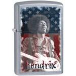 Briquet essence Zippo Jimi Hendrix en concert sur fond street chrome