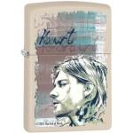 Briquet essence Zippo Kurt Cobain du groupe Nirvana en gros plan