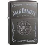 Briquet essence ZIPPO bouteille de Jack Daniel's sur fond noir