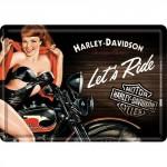 Plaque en métal 14 X 10 cm Harley-Davidson Motorcycles