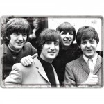 Plaque en métal 14 X 10 cm : Les Beatles