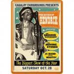 Plaque en métal 14 X 10 cm : Jimi Hendrix