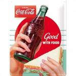 Plaque en métal 30 X 40 cm : Coca-Cola publicité pour le mythique soda