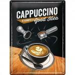 Plaque en métal 30 X 40 cm : Café - Coffee
