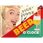 """Plaque en métal 15 X 20 cm """"Drink good beer ..."""" - """"Bois de la bonne bière ..."""""""
