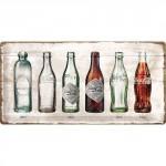 Plaque en métal 25 x 50 cm : Coca-Cola logo classique