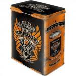 Boîte en métal rectangulaire Harley-Davidson : Genuine
