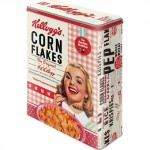 Boîte en métal rectangulaire Kellogg's Corn Flakes The original