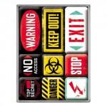 Set de 9 magnets Vintage années 50