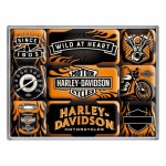 Set de 9 magnets : Harley-Davidson motos