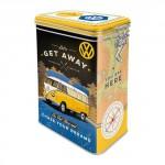 Boîte en métal rectangulaire avec clips VW Volkswagen T1 Bulli à l'aventure
