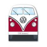 Grattoir de pare-brise en forme de VW Volkswagen T1 Bulli rouge