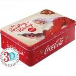 Boîte en métal plate Coca-Cola Père Noël