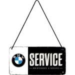 Plaque en métal 10 X 20 cm à suspendre : BMW Service