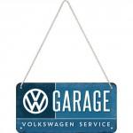 Plaque en métal 10 X 20 cm à suspendre : VW Volkswagen Garage