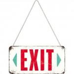Plaque en métal 10 X 20 cm à suspendre : Exit