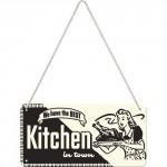 Plaque en métal 10 X 20 cm à suspendre : Kitchen (Cuisine)