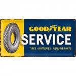Plaque en métal 25 x 50 cm : Goodyear Service