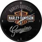 Horloge murale : Harley-Davidson logo classique
