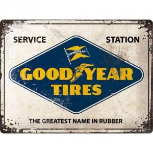 Plaque en métal 30 X 40 cm Publicité Goodyear Service Station