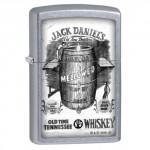 """Briquet essence ZIPPO distillation goutte à goutte de Jack Daniel's sur fond """"street chrome"""""""