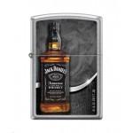 """Briquet essence ZIPPO bouteille de Jack Daniel's sur un fond """"street chrome"""""""