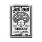 """Briquet essence Zippo publicité vintage Jack Daniel's Old N°7 logo sur """"street chrome"""""""