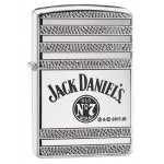Briquet essence ZIPPO logo N°7 Jack Daniel's gravure en relief Armor sur fond 'high polish chrome""