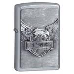Briquet essence Zippo Harley-Davidson chromé Emblème et route de légende