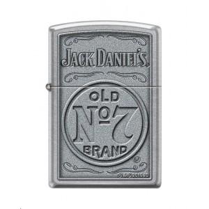 """Briquet essence ZIPPO logo classique Jack Daniel's sur fond """"street chrome"""""""