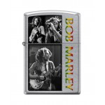"Briquet essence Zippo Bob Marley pêle-mêle de photos fond ""street chrome"""