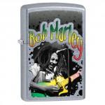 """Briquet essence Zippo Bob Marley en concert fond """"street chrome"""""""