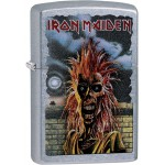 "Briquet essence Zippo groupe heavy métal Iron Maiden zombie fond ""street chrome"""