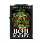 "Briquet essence Zippo Bob Marley Iron Lion Zion fond ""black matte"""