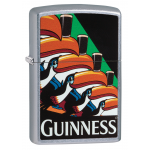 "Briquet essence Zippo Guinness toucan fond ""street chrome"""