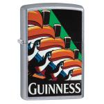 "Briquet essence Zippo Guinness toucan fond ""street chrome"""