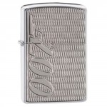 "Briquet essence ZIPPO James Bond 007 gravure en creux Armor fond ""high polish chrome"""