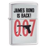 "Briquet essence Zippo James Bond 007 is back fond ""brushed chrome"""