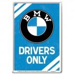 Plaque en métal 14 X 10 cm BMW Drivers Only