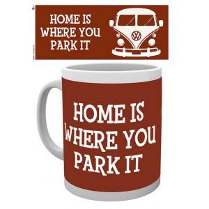 "Tasse à café (coffee mug) VW Volkswagen T1 Bulli ""Home is where you park it"""