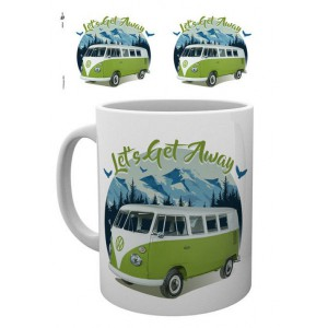 Tasse à café (coffee mug) VW Volkswagen T1 BULLI vert à la montagne