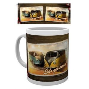 Tasse à café (coffee mug) VW Volkswagen 2 T1 BULLI à la plage