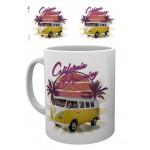 "Tasse à café (coffee mug) VW Volkswagen T1 BULLI jaune ""California Dreaming"""
