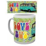 "Tasse à café (coffee mug) VW Volkswagen T1 BULLI Flower Power ""Love Bus"""