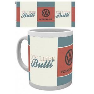 "Tasse à café (coffee mug) VW Volkswagen ""Ich liebe Bulli"" - ""J'aime mon Bulli"""